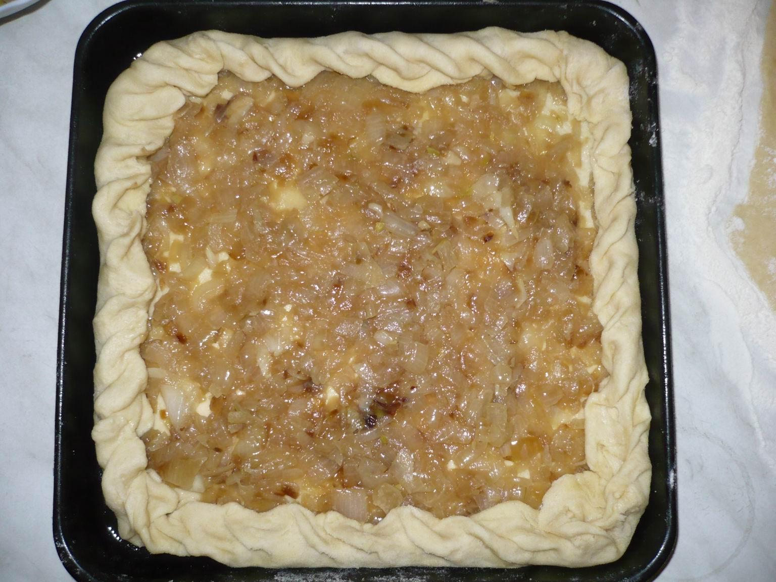 Луковый пирог с пошагово 3